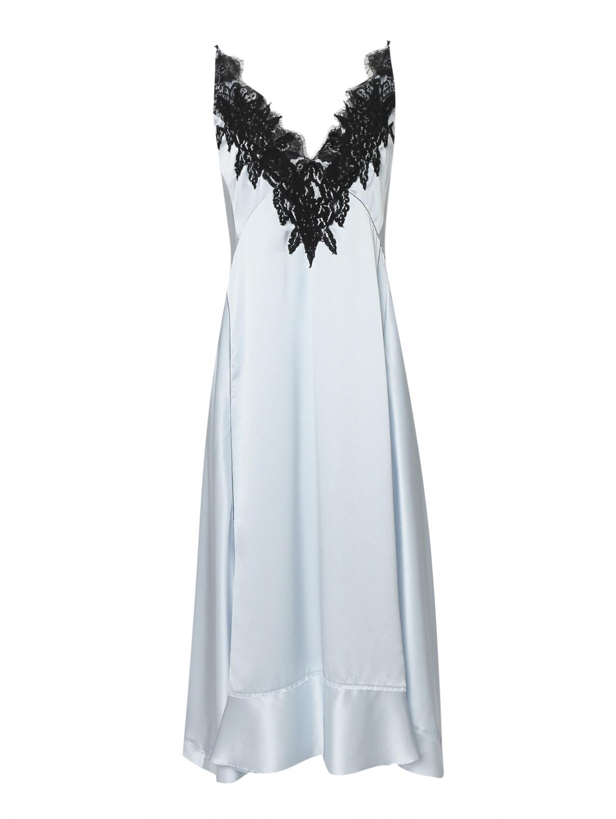 Платье из шелка с кружевной аппликацией Dorothee Schumacher  –  Общий вид