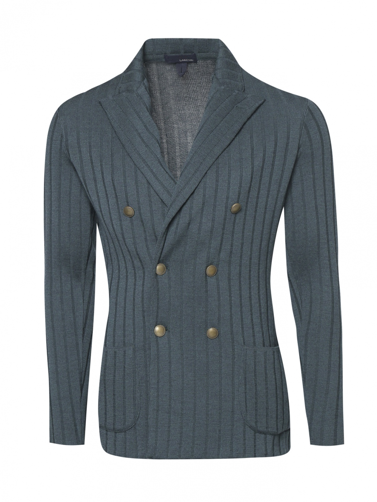 Пиджак двубортный из шерсти LARDINI  –  Общий вид