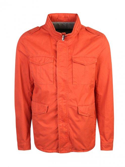 Куртка на молнии с накладными карманами  - Общий вид