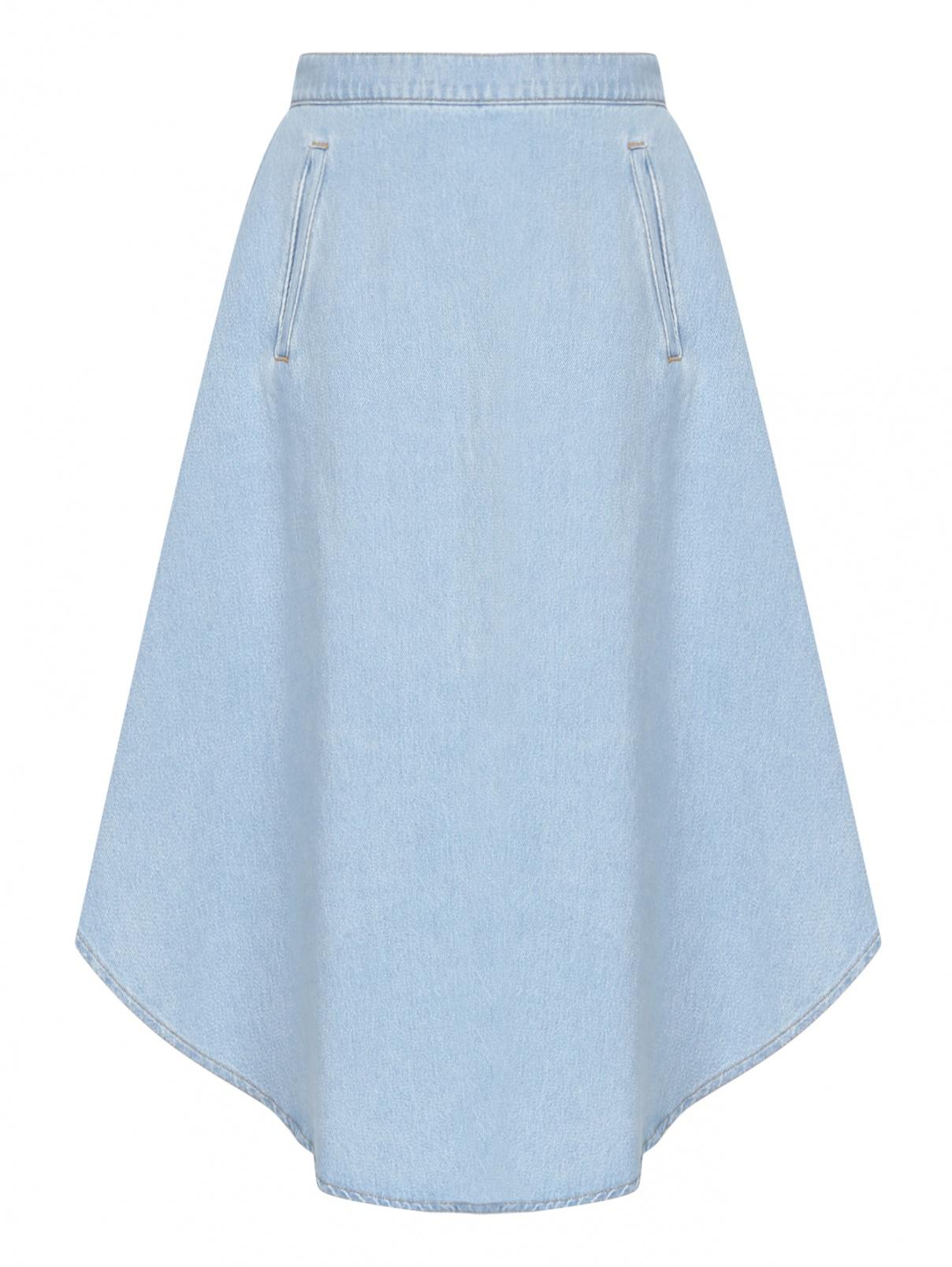 Джинсовая юбка из светлого денима MM6  –  Общий вид