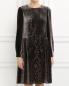 Платье свободного кроя с узором Alberta Ferretti  –  Модель Верх-Низ