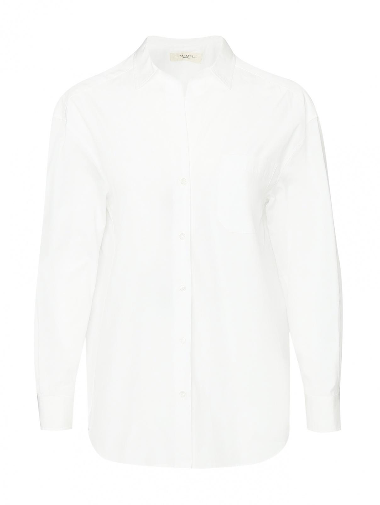 Рубашка из хлопка с накладным карманом Weekend Max Mara  –  Общий вид