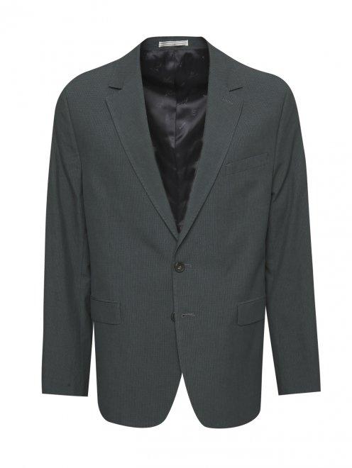 Пиджак из хлопка и льна - Общий вид