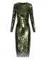 Платье-футляр декорированное пайетками Ermanno Scervino  –  Общий вид