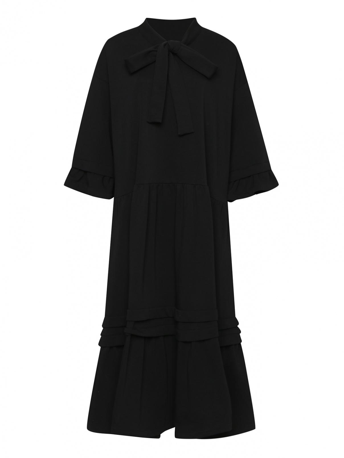 Трикотажное платье из смешанного хлопка свободного кроя MM6  –  Общий вид