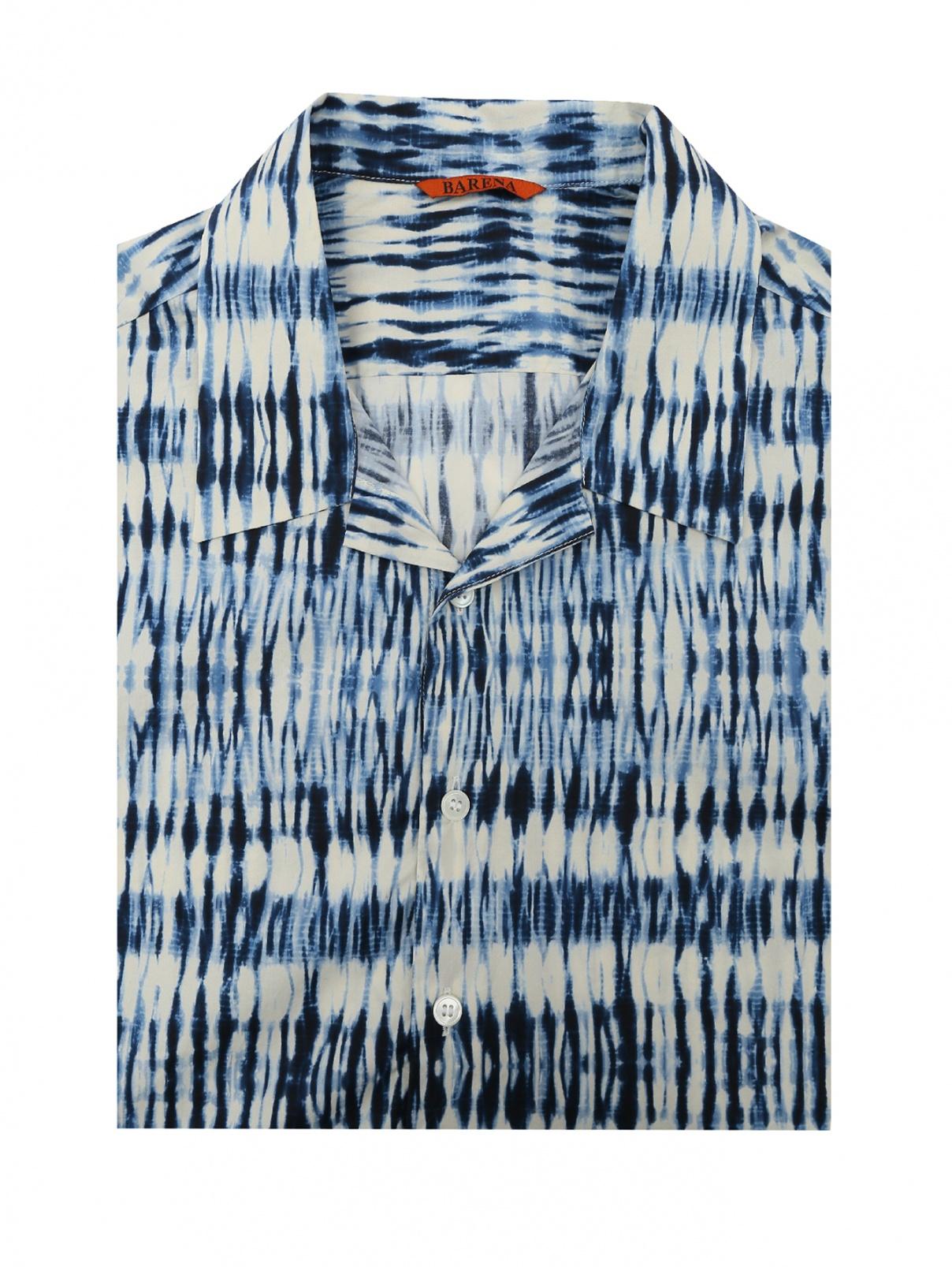 Рубашка из хлопка с коротким рукавом Barena  –  Общий вид