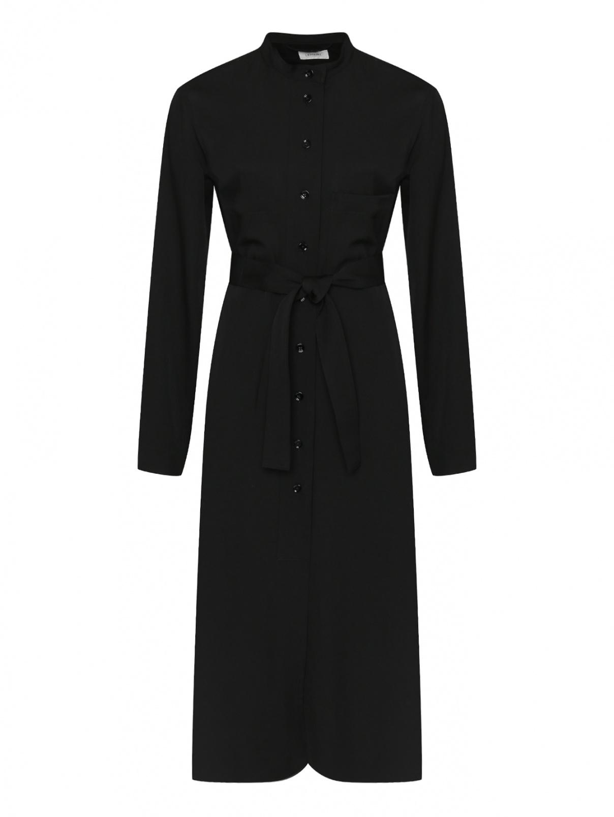 Платье-миди из шерсти с поясом Lemaire  –  Общий вид