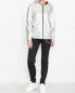 Трикотажная куртка на молнии с капюшоном Love Moschino  –  МодельОбщийВид