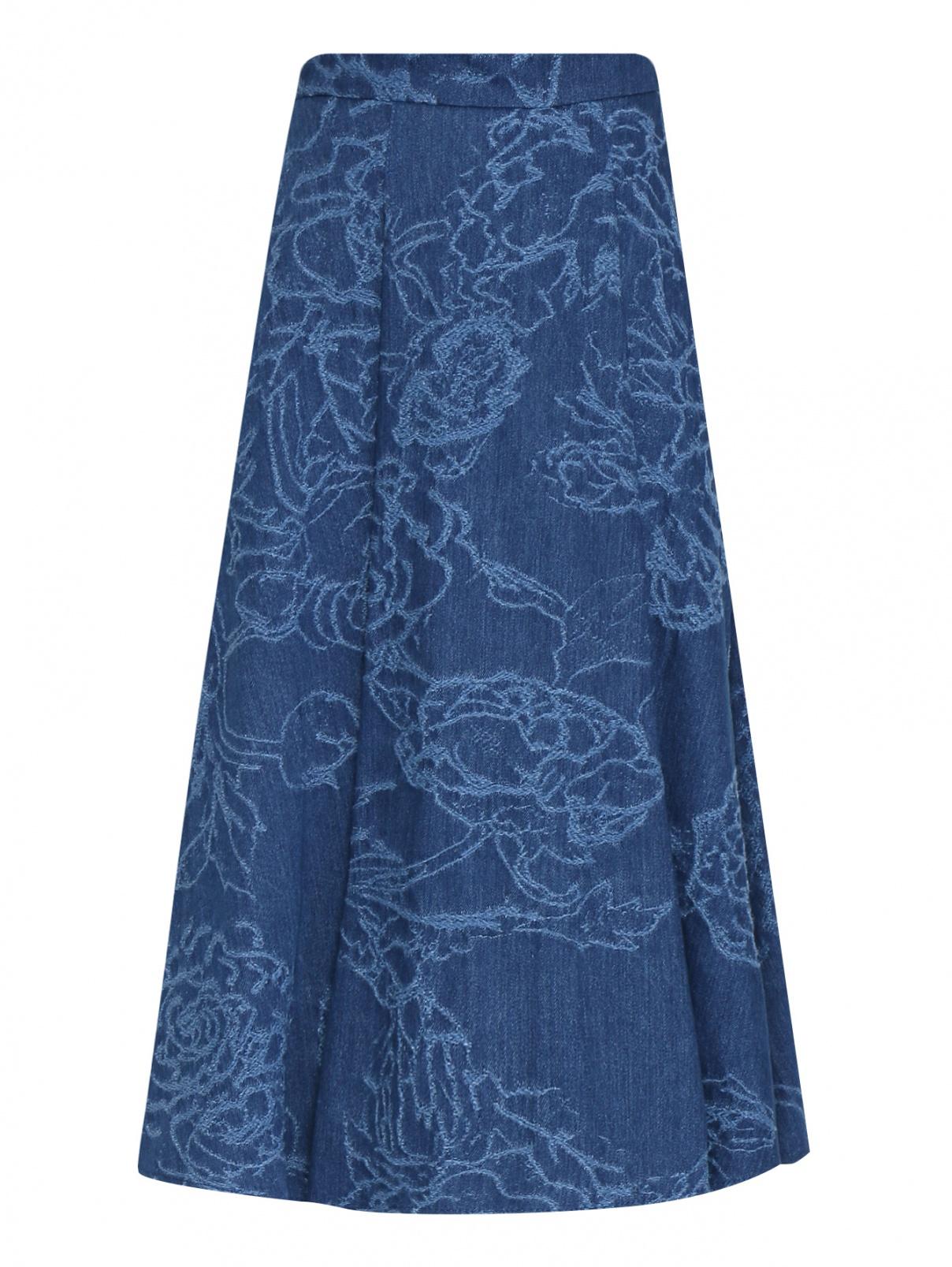 Юбка-миди из денима с вышивкой Max&Co  –  Общий вид