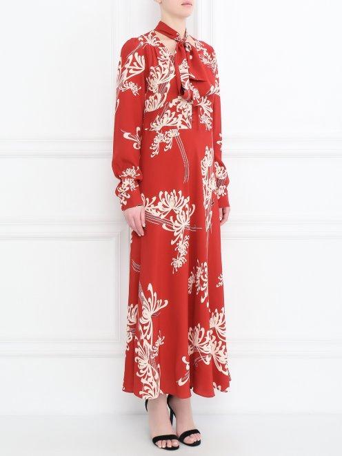 Платье с узором - МодельВерхНиз