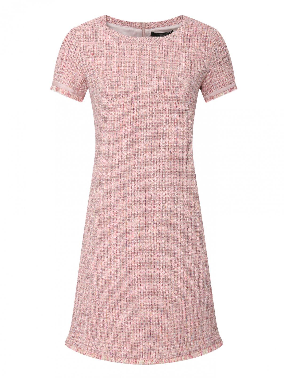 Платье-мини из хлопка с короткими рукавами Weekend Max Mara  –  Общий вид