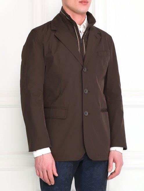 Пиджак с подкладом на молнии - Модель Верх-Низ