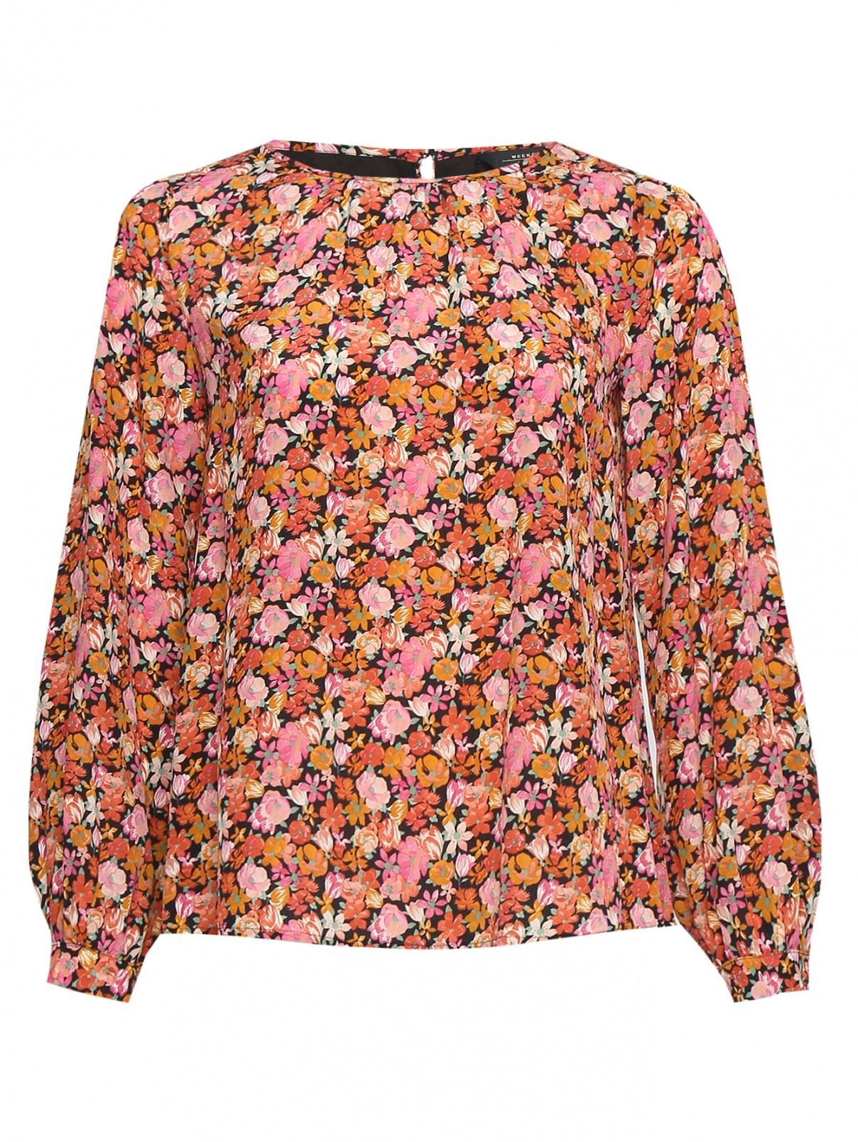 Блуза из шелка с узором Weekend Max Mara  –  Общий вид