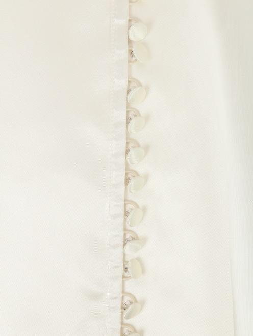 Блуза из вискозы с принтом MM6 - Деталь