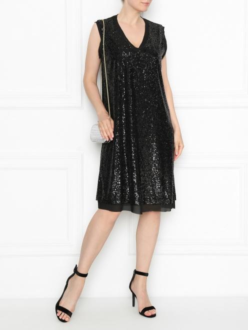 Платье из ткани в пайетках - Общий вид