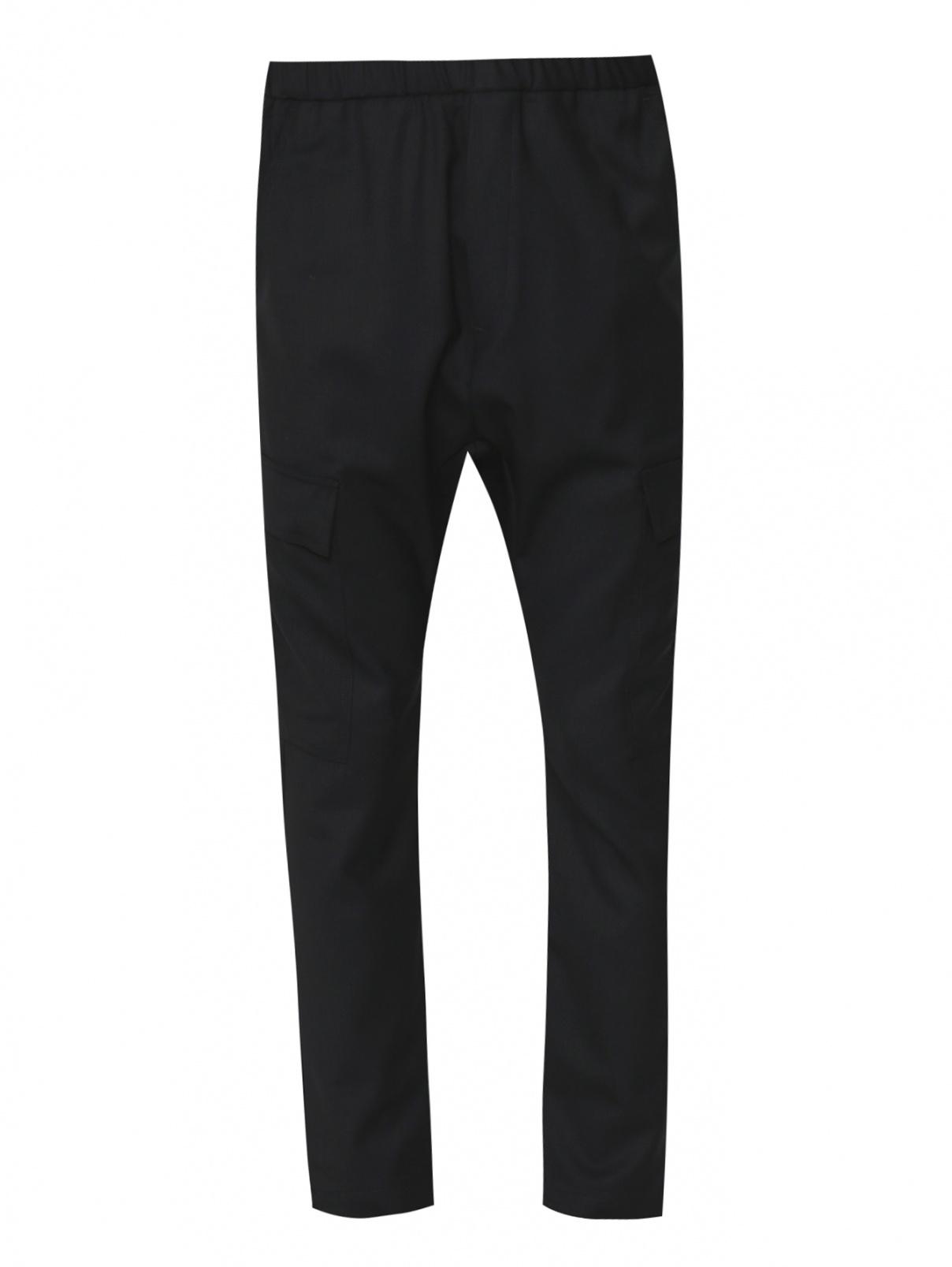 Брюки свободного кроя из шерсти с накладными карманами Barena  –  Общий вид