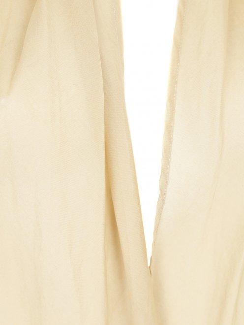 Джемпер из хлопка мелкой вязки с подкладом из хлопка - Деталь1