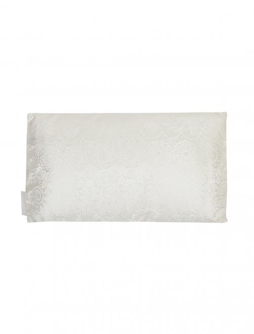 Подушка из текстурной ткани с растительным узором La Perla - Общий вид
