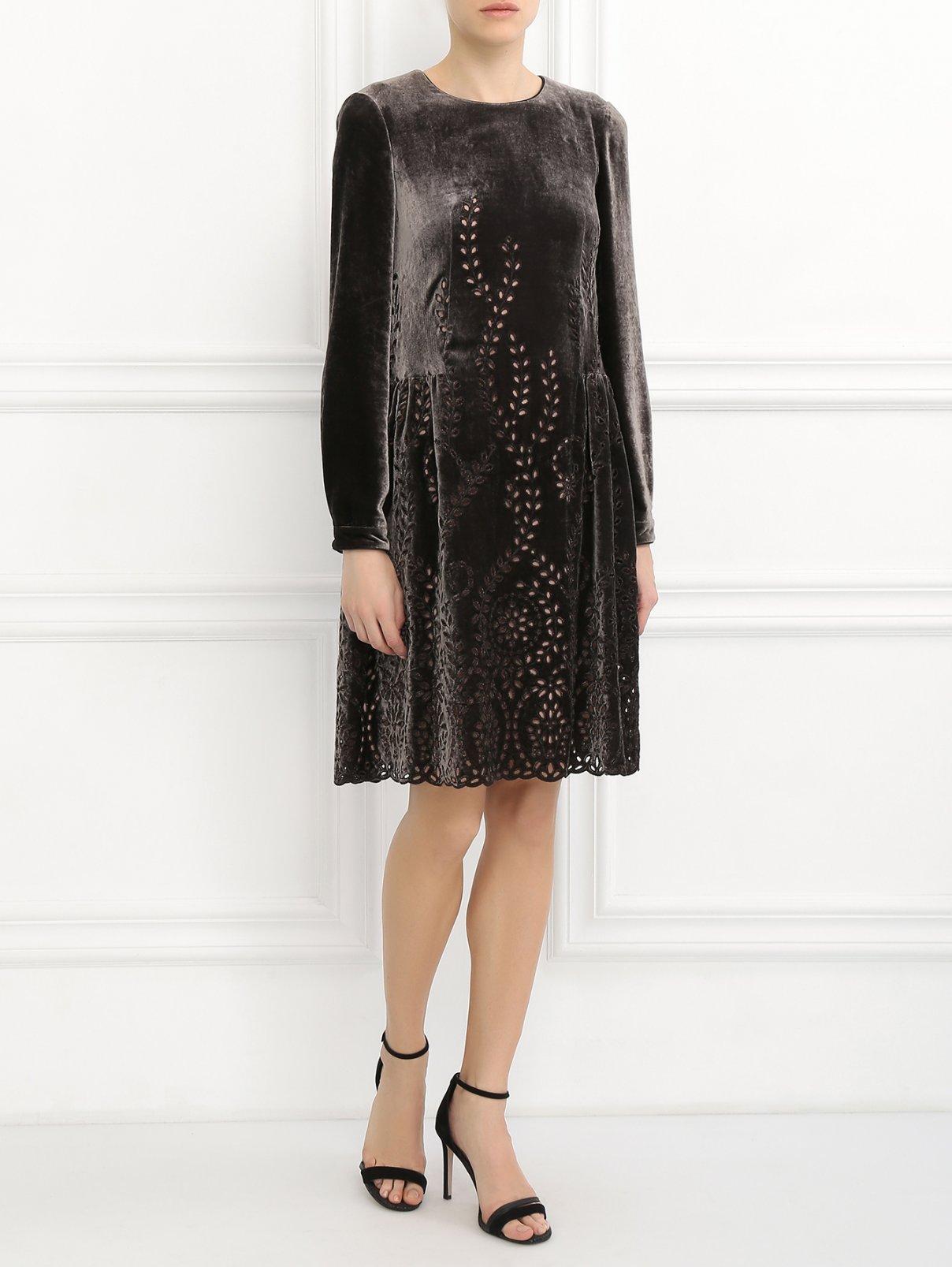 Платье свободного кроя с узором Alberta Ferretti  –  Модель Общий вид