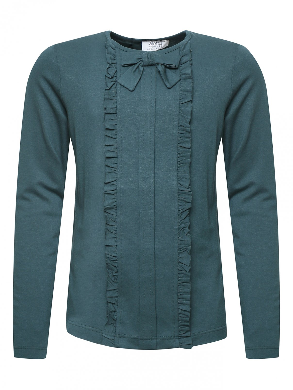 Блуза трикотажная с оборками Aletta Couture  –  Общий вид