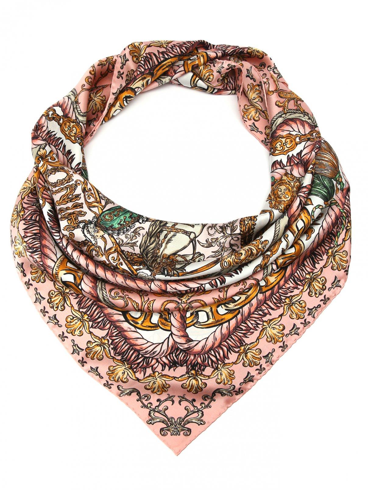 Платок из шелка с узором Moschino  –  Общий вид
