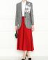 Широкие брюки из шерсти на резинке Aspesi  –  МодельОбщийВид