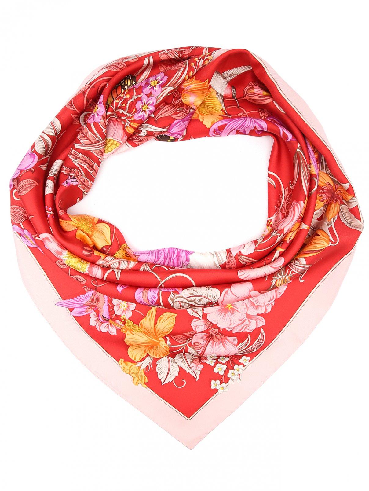 Платок из шелка с цветочным узором Salvatore Ferragamo  –  Общий вид