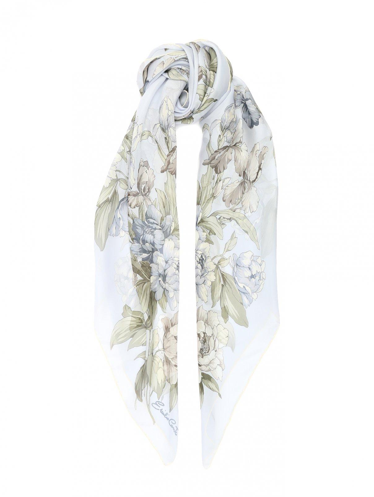 Платок из шелка с цветочным узором Emilio Conte  –  Общий вид