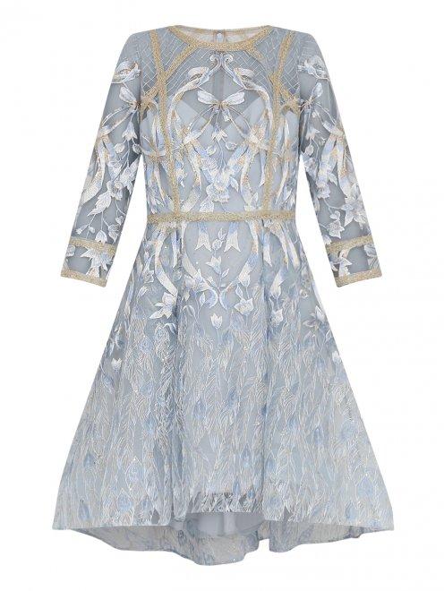 Платье с узором декорированное пайетками - Общий вид