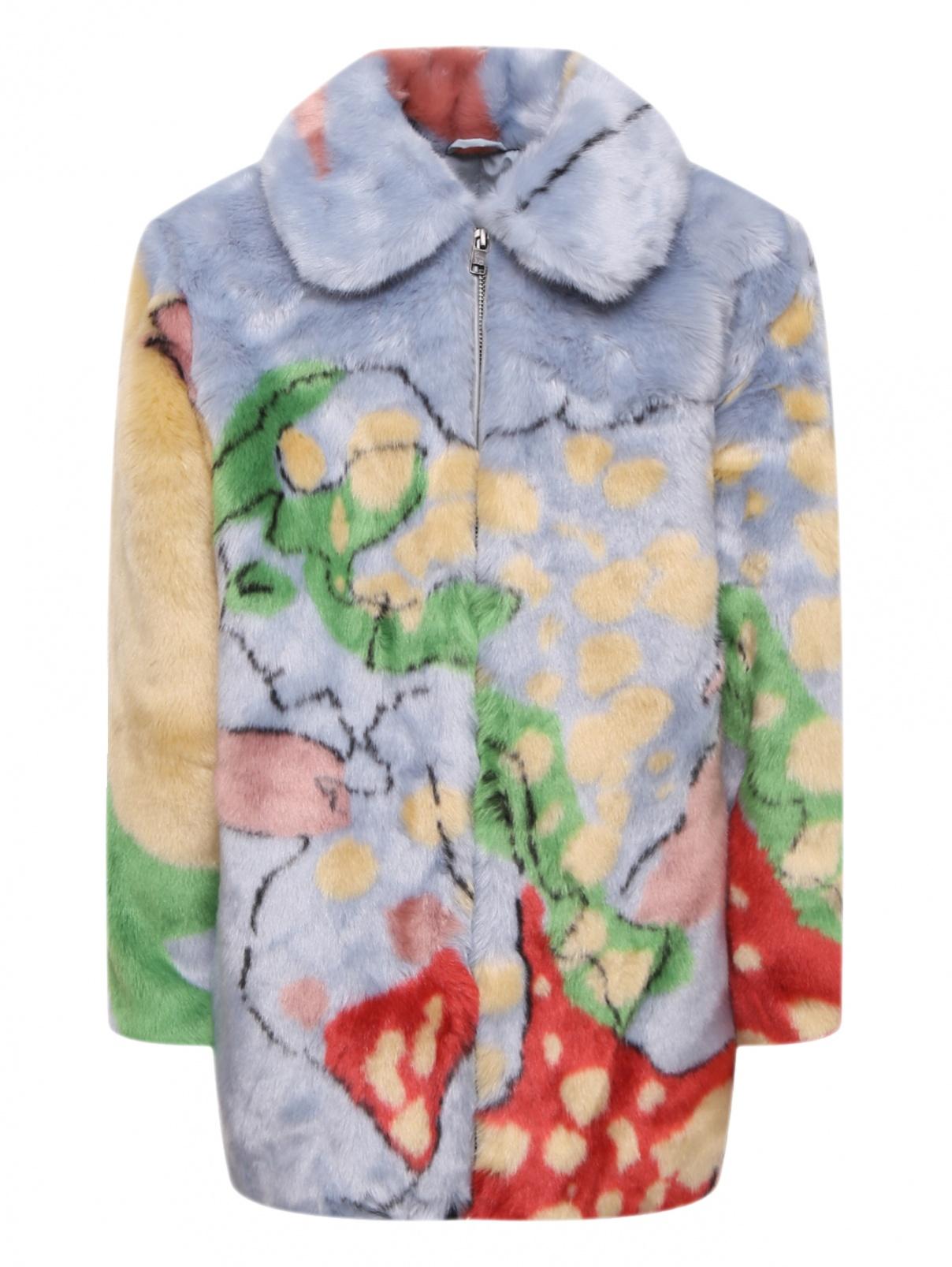 Шуба цветная из искусственного меха Stella McCartney kids  –  Общий вид
