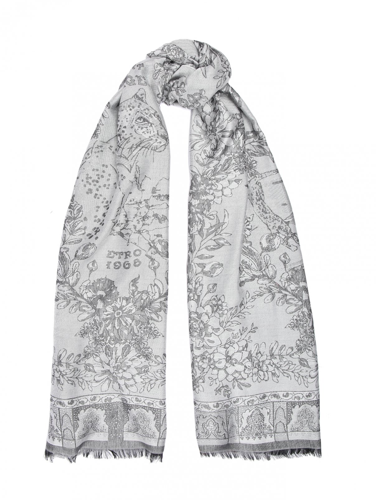 Шарф с цветочным принтом Etro  –  Общий вид
