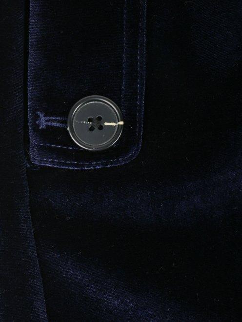 Юбка-мини из бархата с кружевной отделкой - Деталь1
