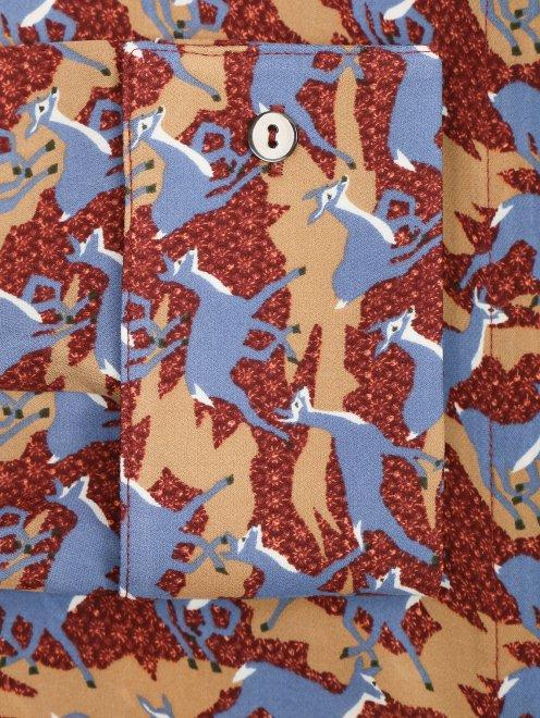 Блуза из шелка с узором - Деталь1
