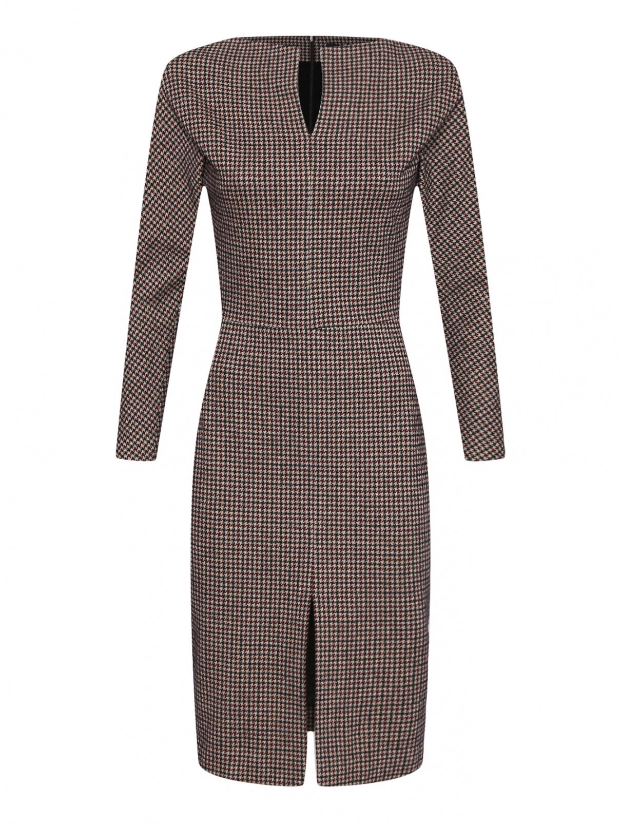 Платье из хлопка и шерсти с узором Etro  –  Общий вид