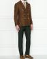 Двубортный пиджак из шерсти и льна LARDINI  –  МодельОбщийВид