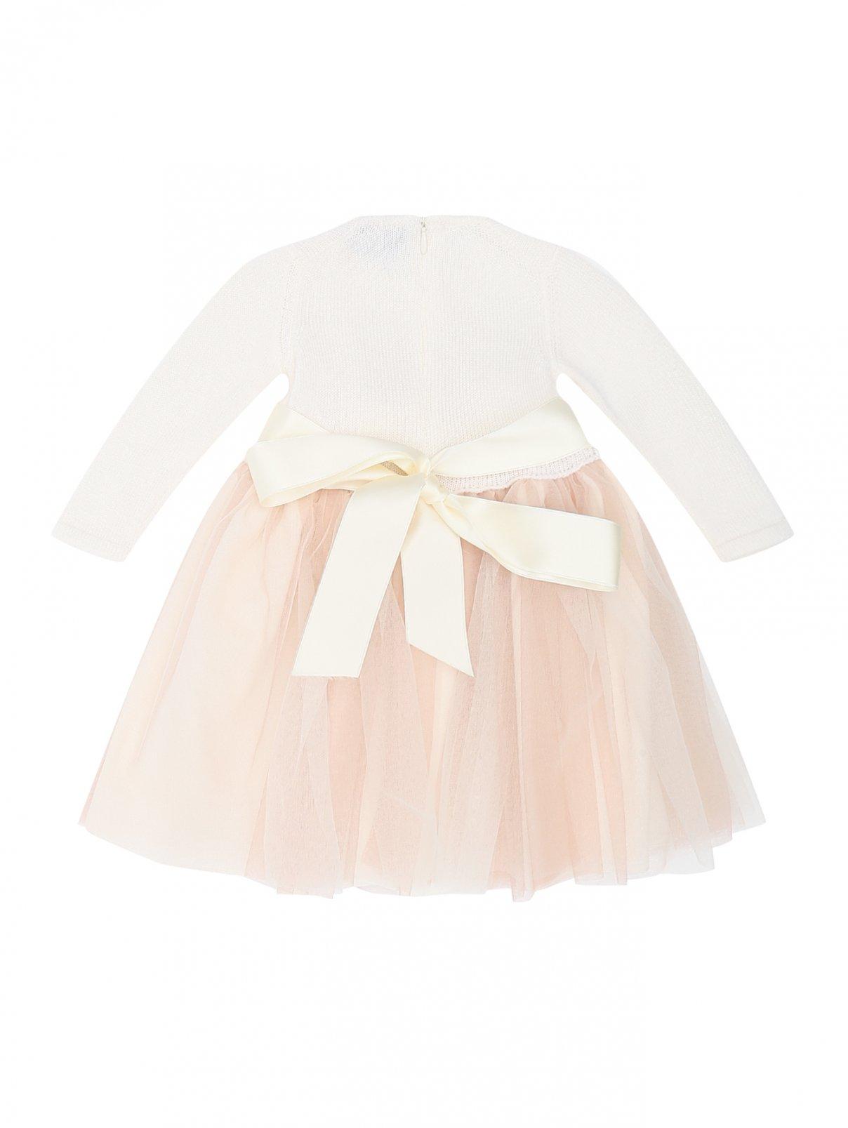 Платье с декоративным поясом CAF Children Fashion Atelier  –  Общий вид