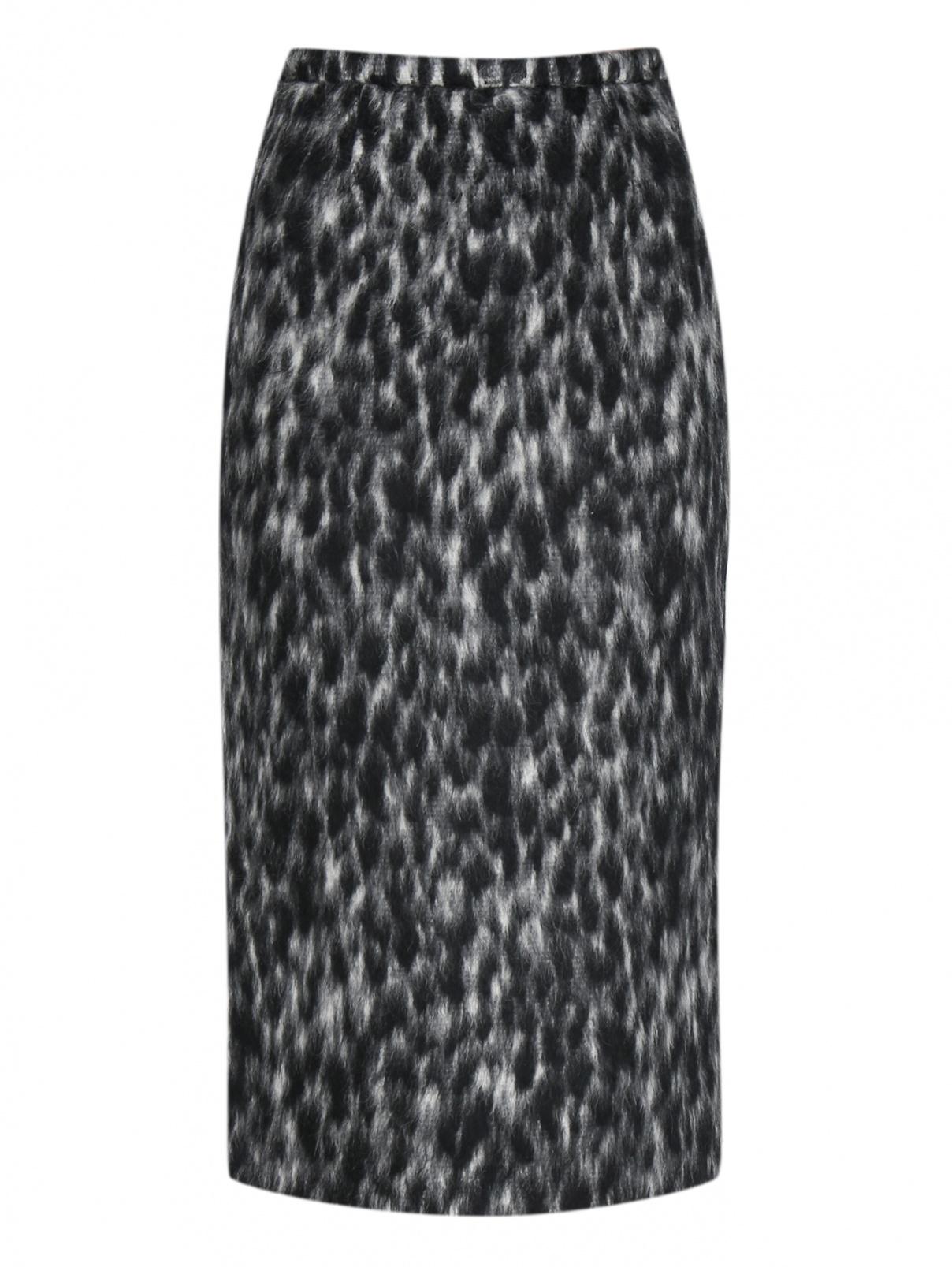 Юбка из шерсти и альпаки с принтом Rochas  –  Общий вид