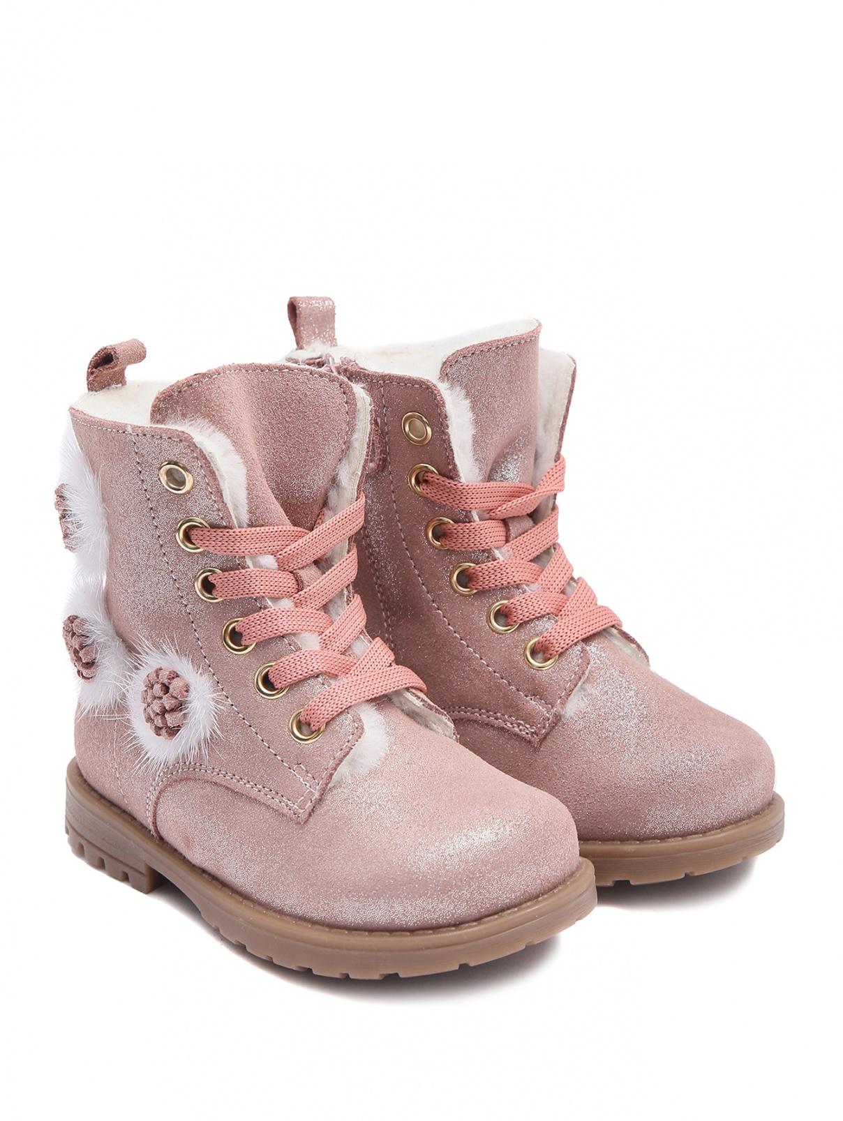 Утепленные ботинки с аппликацией Zecchino d`Oro  –  Общий вид