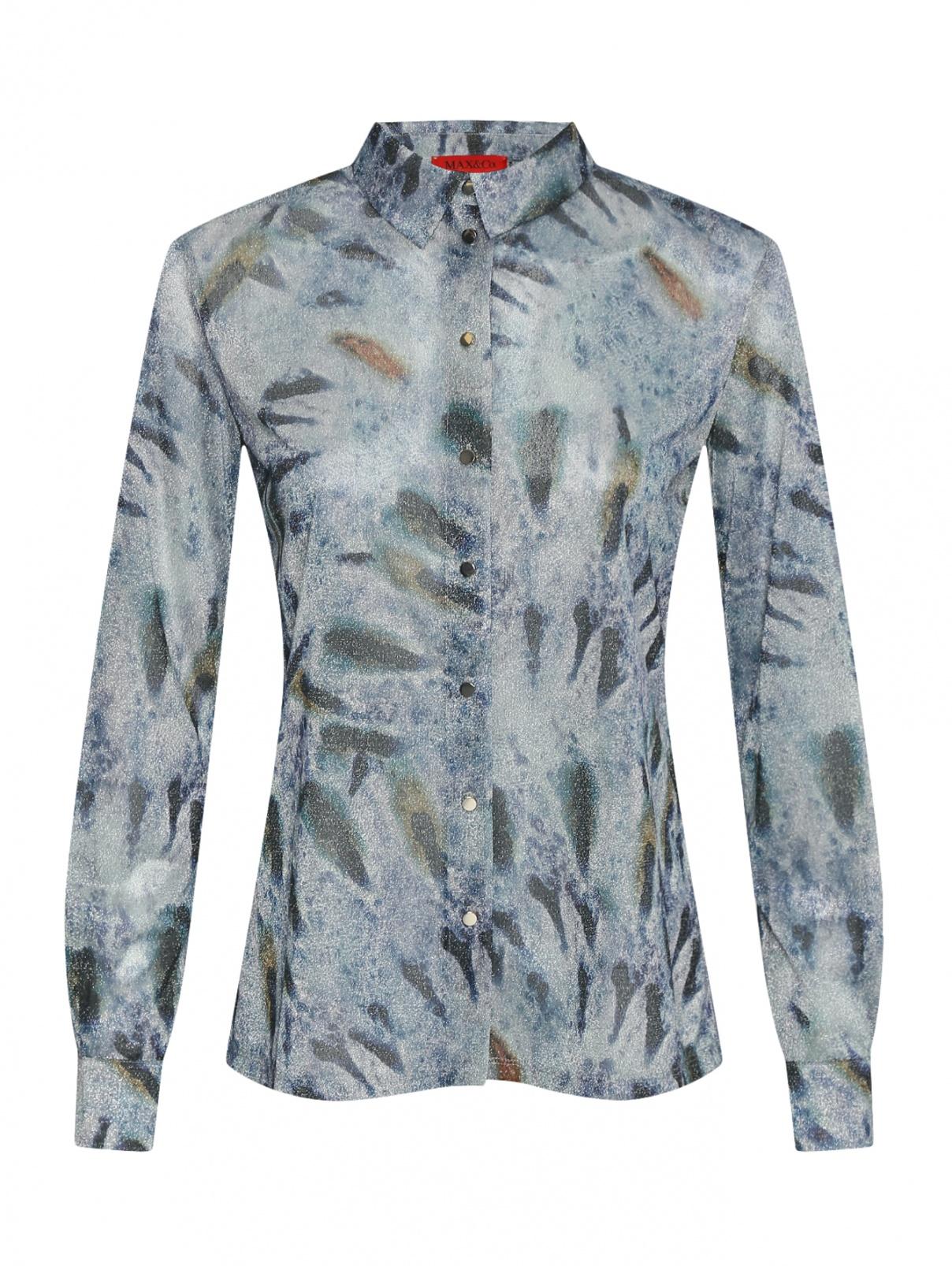 Полупрозрачная блуза с узором Max&Co  –  Общий вид