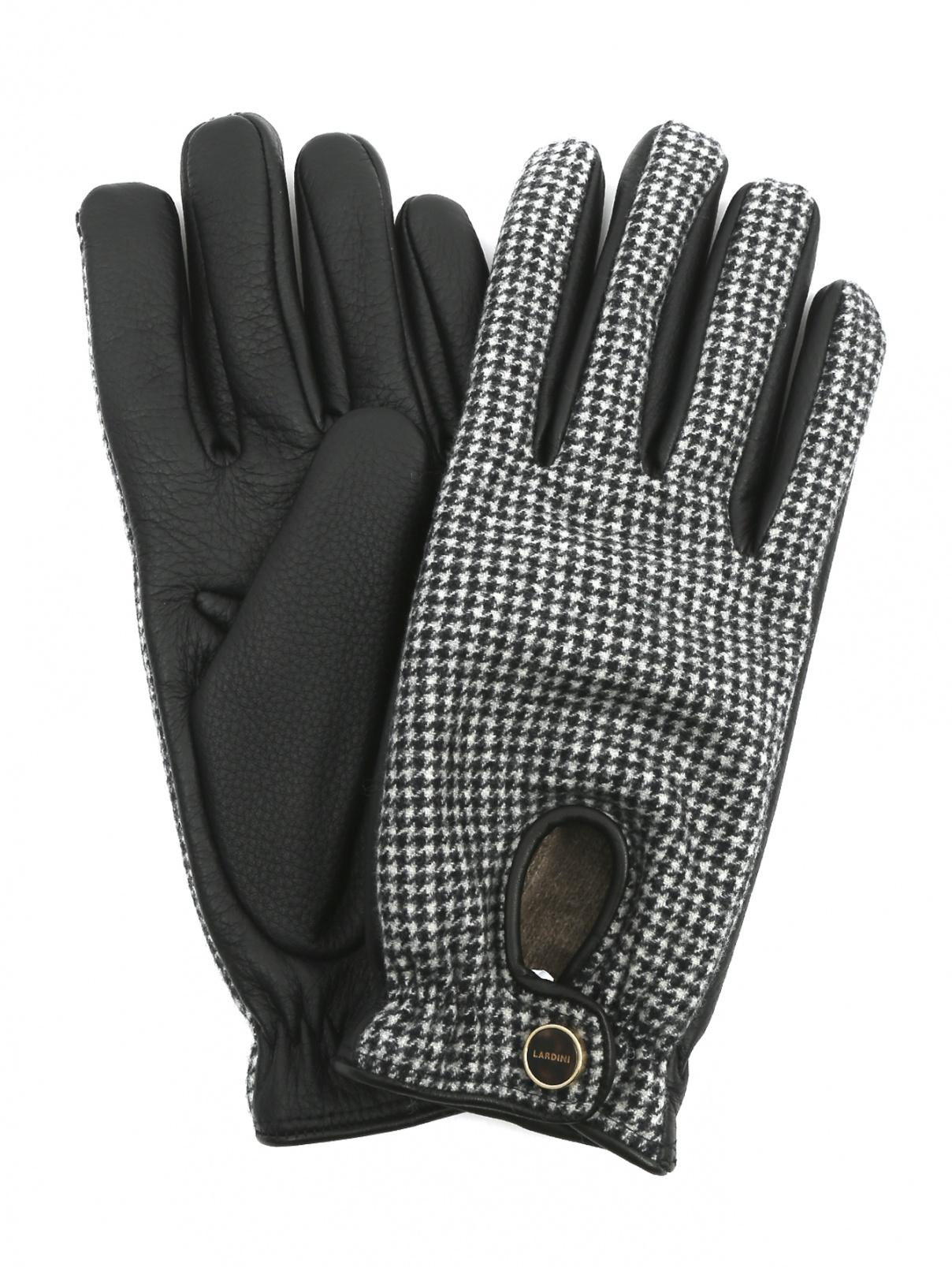 Перчатки из кожи с узором LARDINI  –  Общий вид