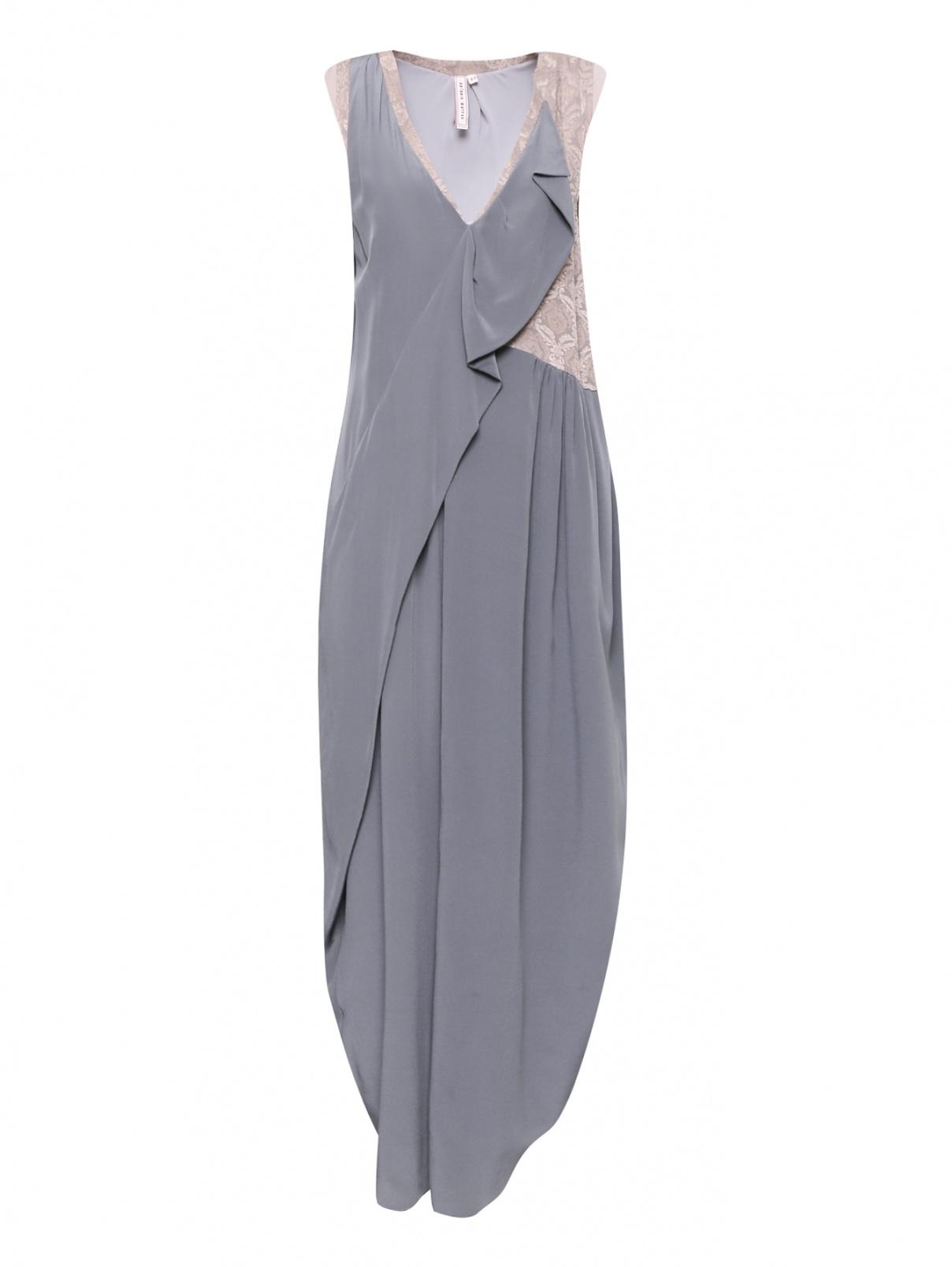 Платье-миди из шелка с драпировкой Antonio Marras  –  Общий вид