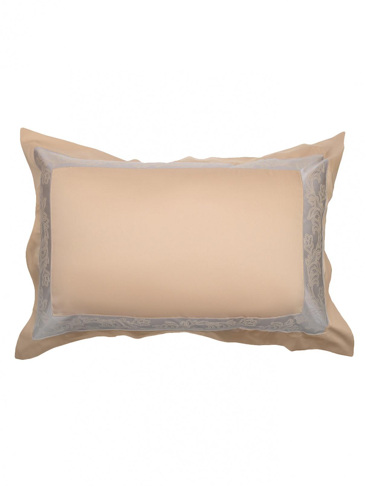 Наволочка из хлопка с узорной каймой 50 x 70 Frette  –  Общий вид