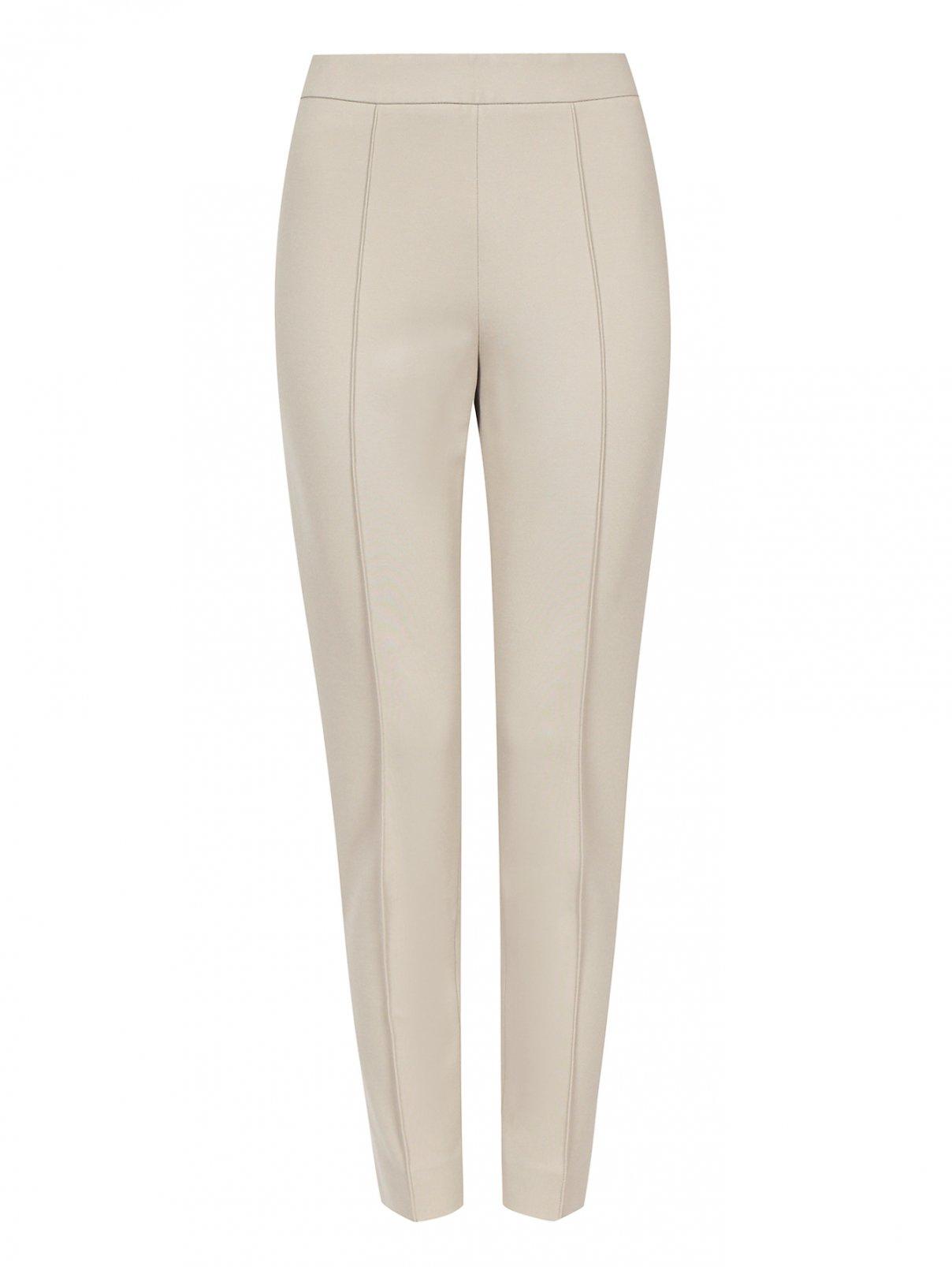 Узкие укороченные трикотажные брюки Max Mara  –  Общий вид