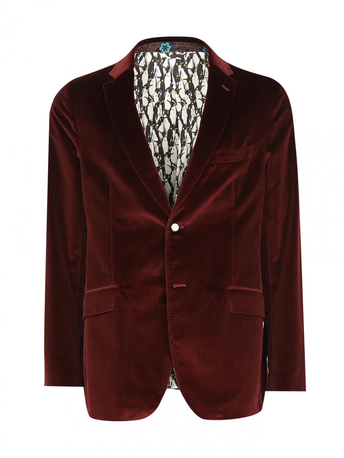 Пиджак однобортный из хлопка Etro  –  Общий вид