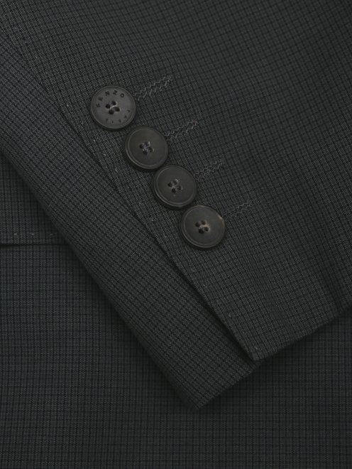 Пиджак из хлопка и льна - Деталь