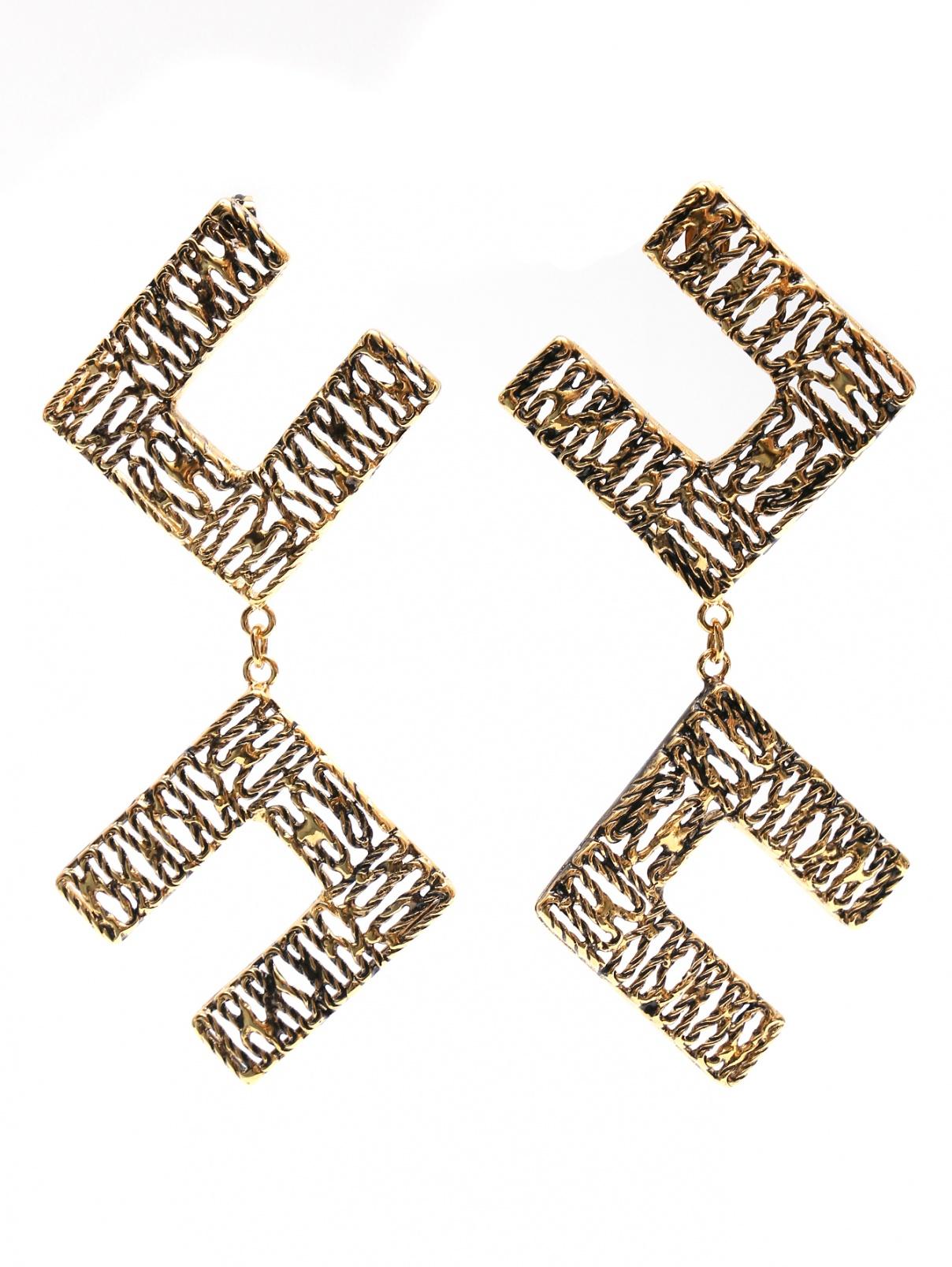 Серьги из золотого металла Elisabetta Franchi  –  Общий вид