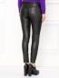 Узкие трикотажные брюки с напылением Moschino Boutique  –  Модель Верх-Низ1