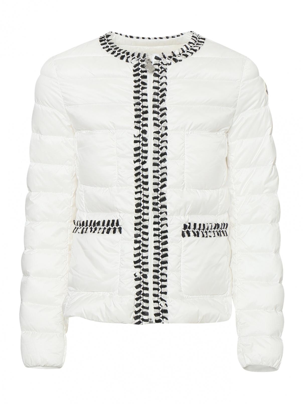 Куртка стеганая с контрастными акцентами Moncler  –  Общий вид