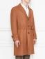 Пальто из шерсти с узором LARDINI  –  МодельВерхНиз