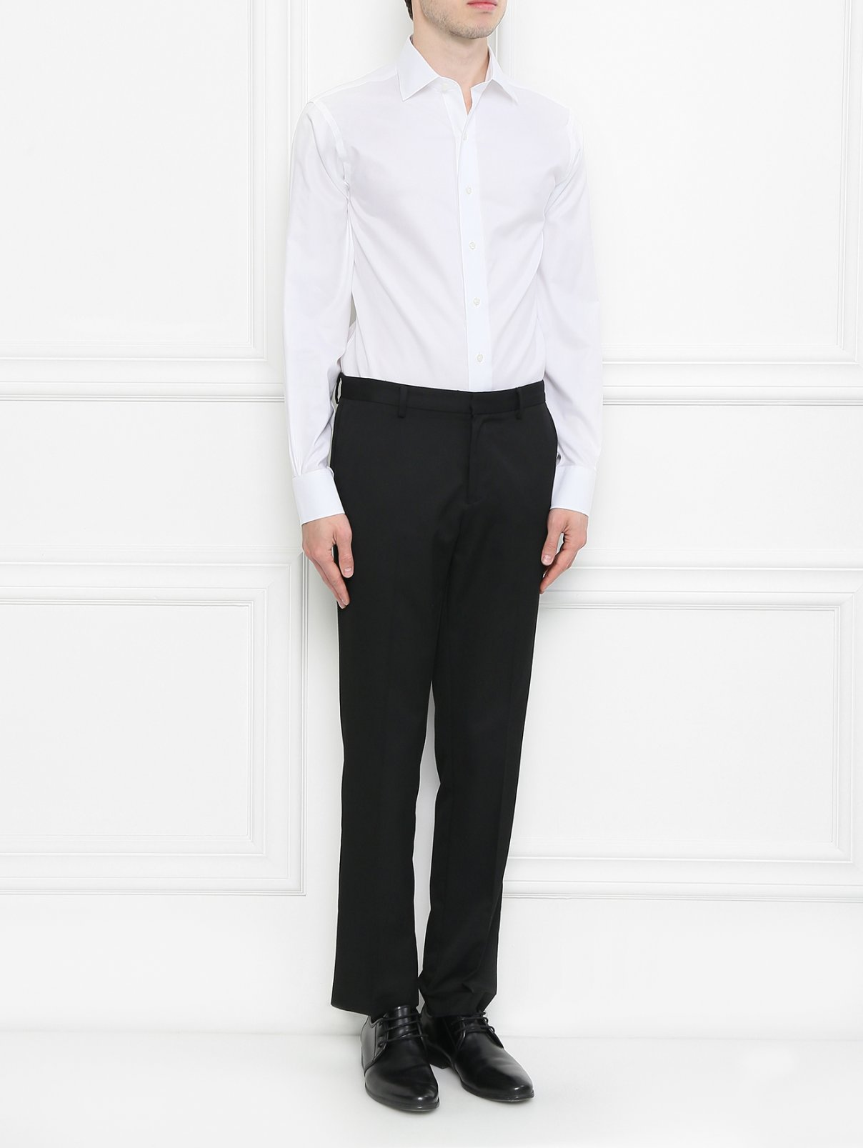 Рубашка из хлопка Brooks Brothers  –  Модель Общий вид